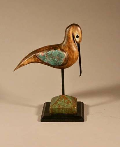 Blaise Lareau (Sumter, S.C.) - Blaise has been carving birds of the South for 35 years. Self-taught, Blaise carves the birds of the coast that he has always loved. Egrets and Herons are favorites, due their simplistic beauty and elegance. Bitterns, pelicans, crows, egrets, and all the smaller shore birds have been carved. Blaise cuts all his own wood, from fallen or dead trees, never using living trees for his wood. | blaiselareau.com